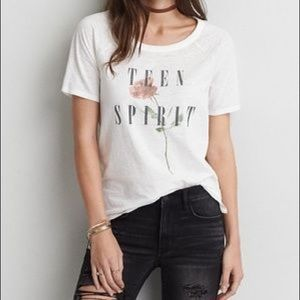American Eagle Teen Spirit Graphic Tee size Small